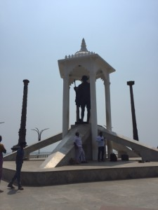 Gandhi Statue on the promenade in Puducherry